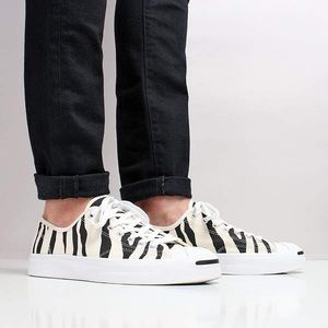 NIB Converse Jack Purcell Archive Zebra Low Top